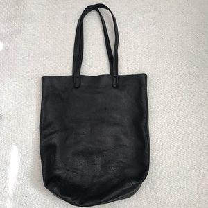 Baggu Black Pebbled Leather Tote